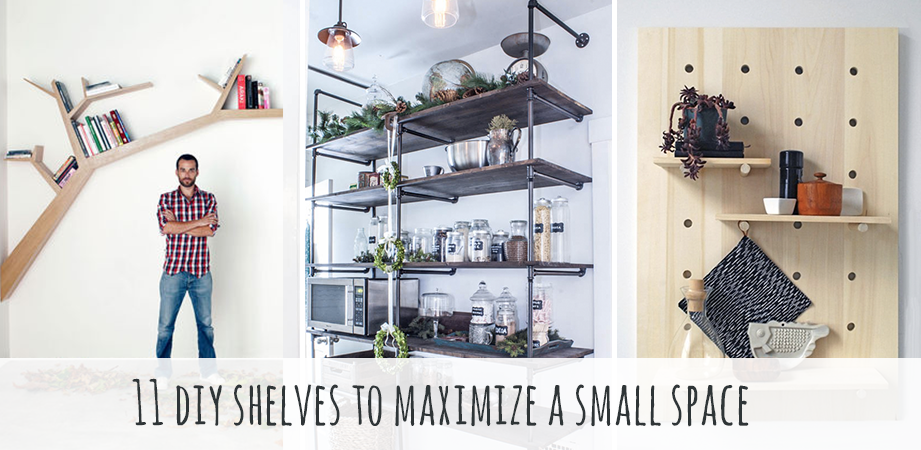 11 easy diy shelves to maximize a small space solutioingenieria Images
