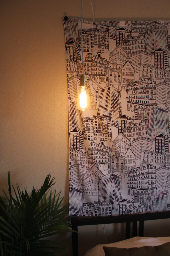 DIY Exposed Hanging Light Bulb