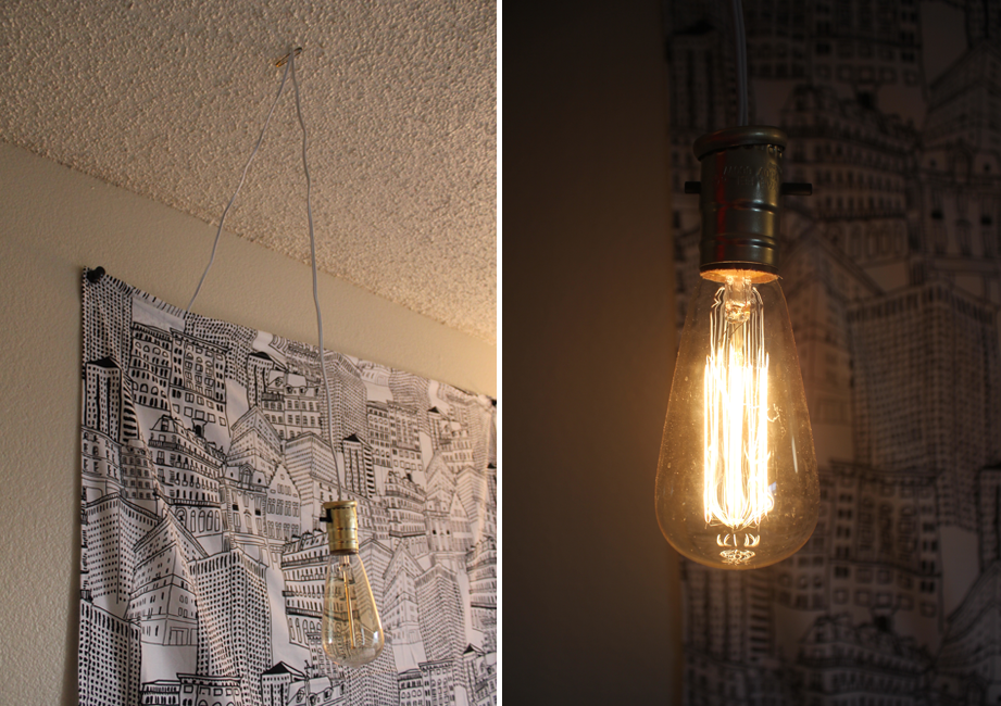 Simple diy exposed hanging light bulb diy exposed hanging light bulb aloadofball