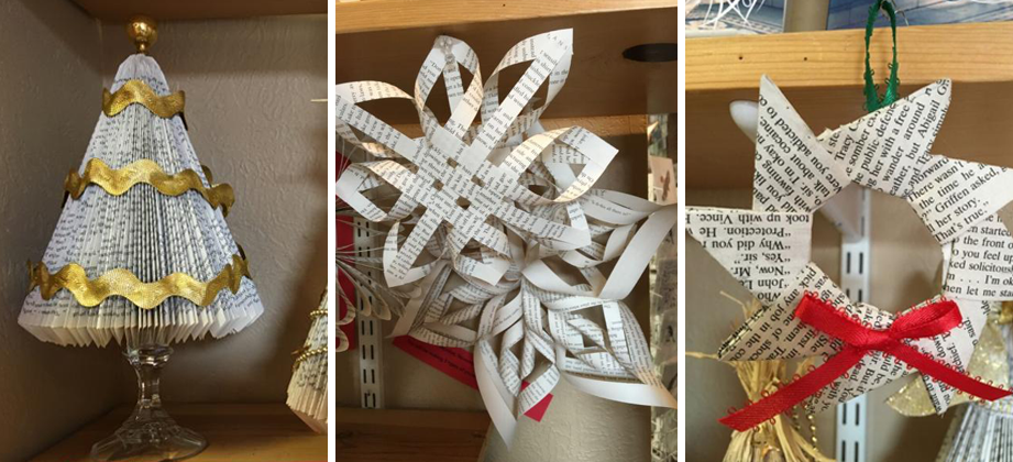 Recycle Old Books Into Holiday Crafts
