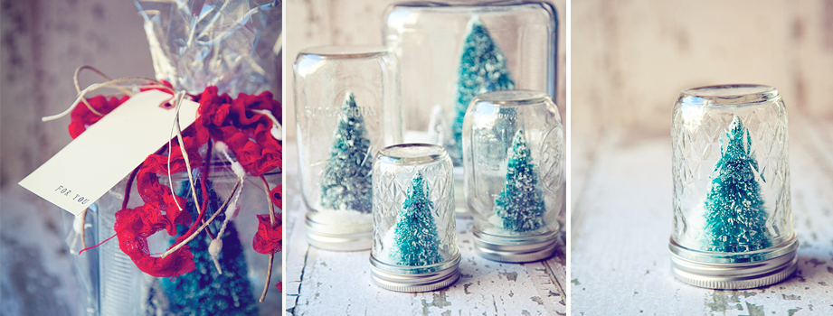 DIY Snowglobes for the holidays