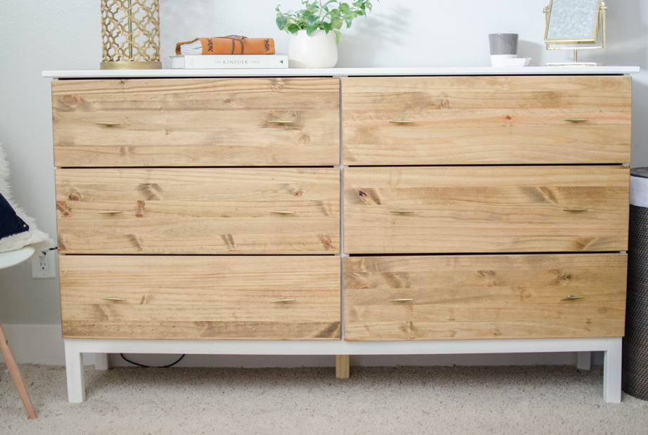 Diy bedroom dresser ikea tarva dresser hack for Ikea bedroom furniture dressers